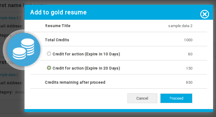 Gold Resume