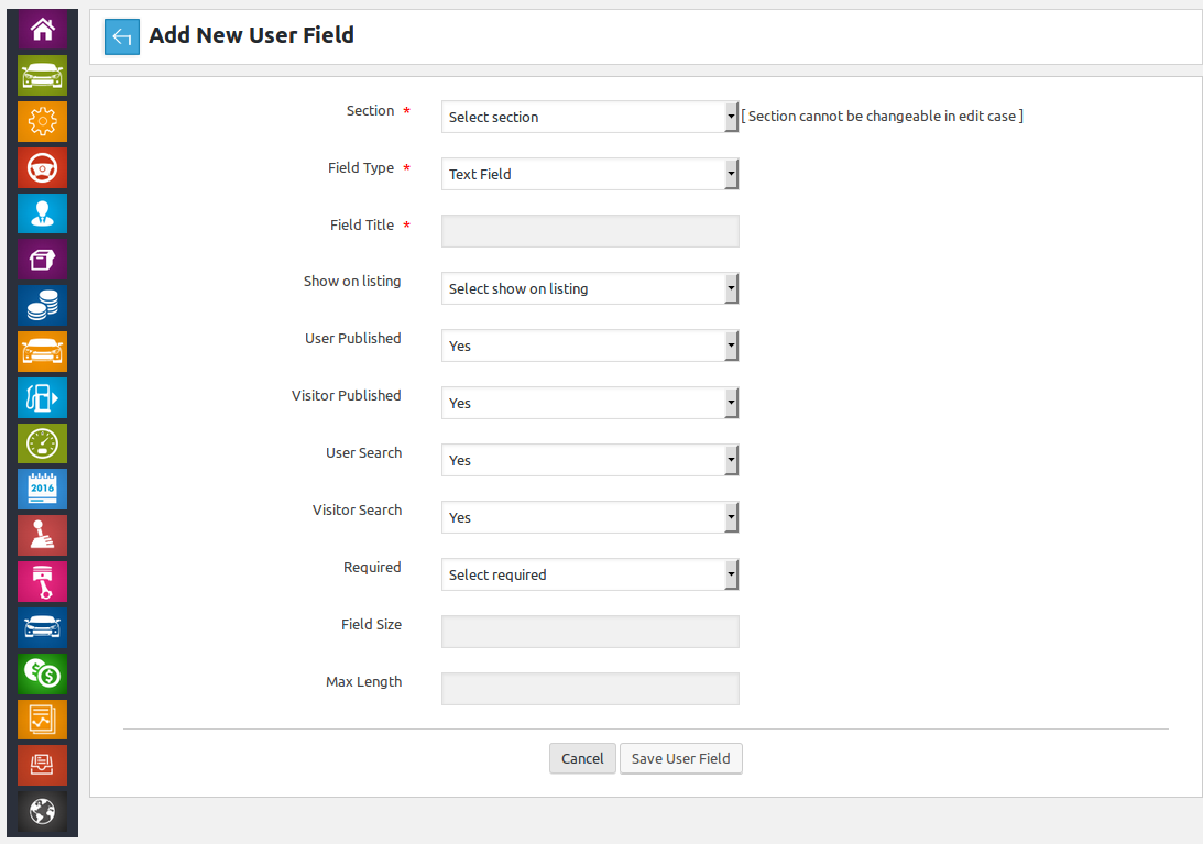 Add New Custom Field